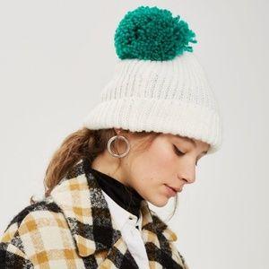 Topshop Beanie Chunky Knit Pom Hat Pom Pom